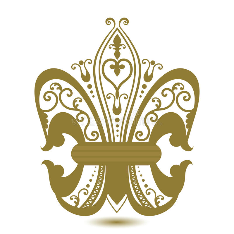 Ornate Fleur de Lis illustration stock