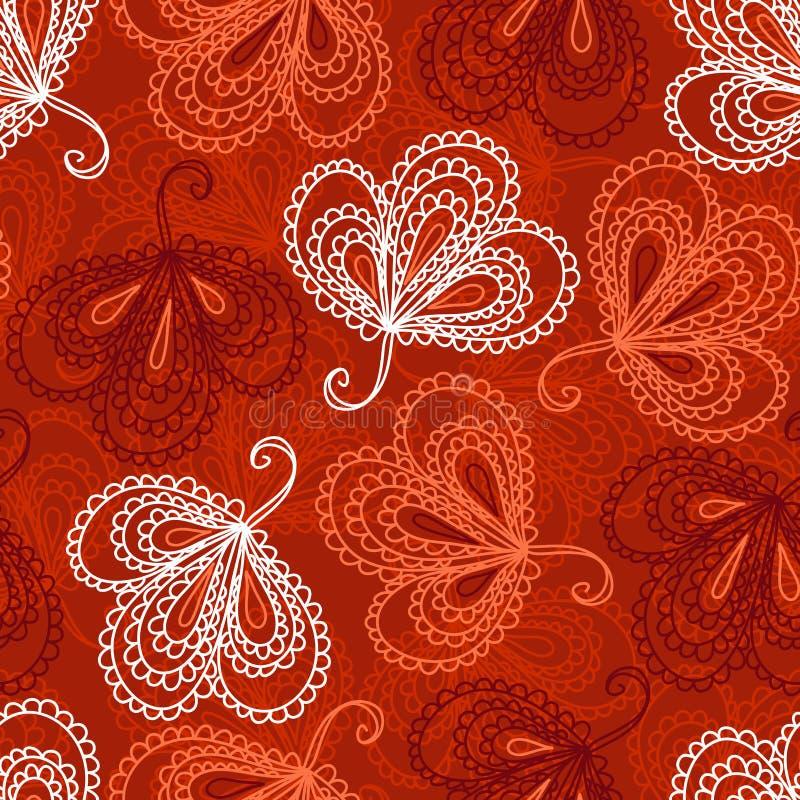 Ornate Floral Seamless Pattern Stock Photo