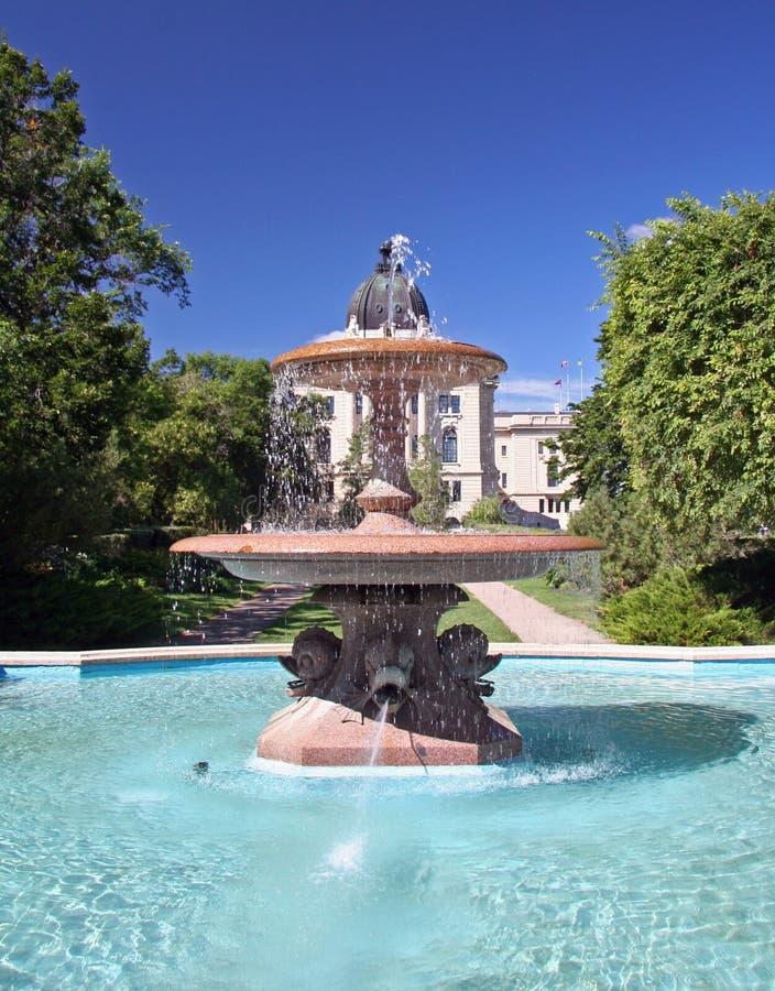 Ornate fountain. Beautiful ornate fountain stock images