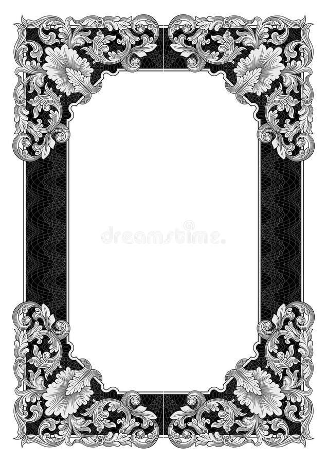 Ornate frame vector illustration