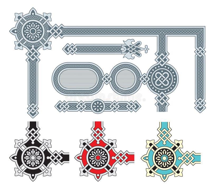 Ornate Frame Design Elements Stock Images