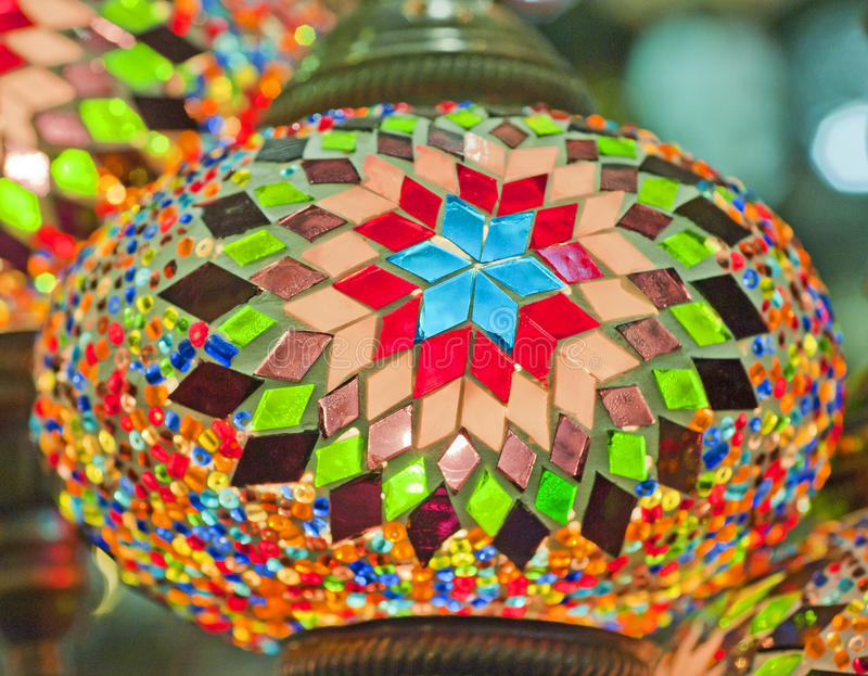 Download Ornate Glass Lights At A Market Stall Stock Photo - Image of turkey, ornate: 17521806