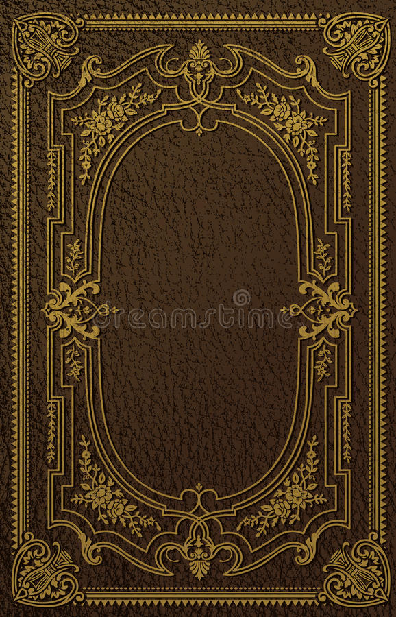 Classical Book Cover stock illustration