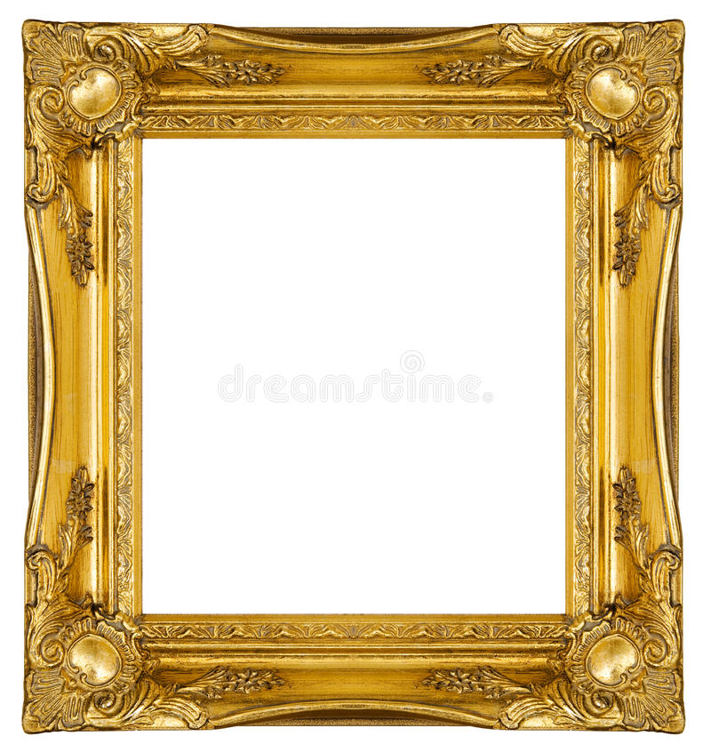 Ornate Gold Frame stock photo. Image of antique, painting - 16786222