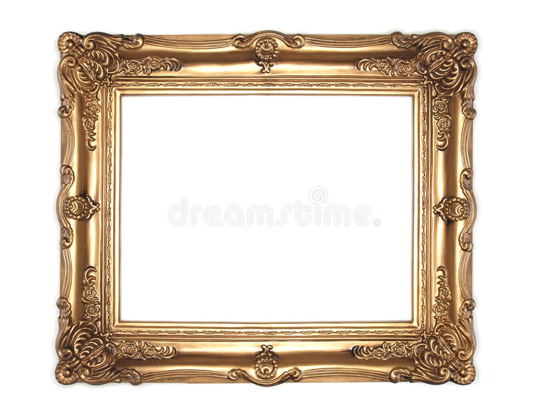 Ornate gold frame royalty free stock photography