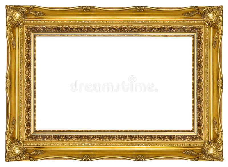 Download Ornate Gold Picture Frame stock photo. Image of decoration - 16780490