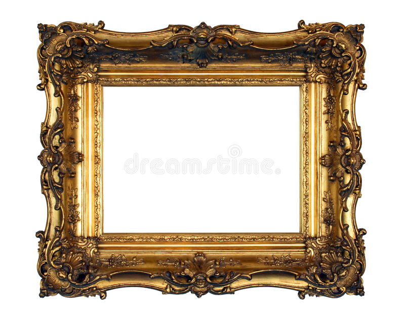 Ornate Gold Picture Frame royalty free stock photo