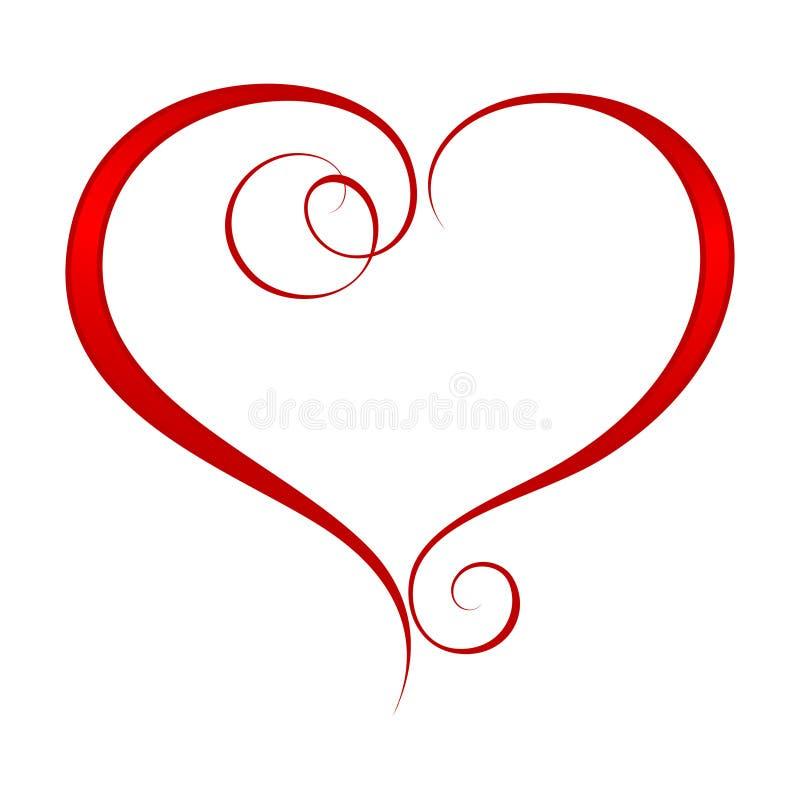 Ornate heart 2 stock illustration