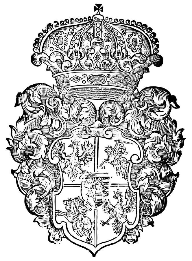 Download Ornate heraldic shields stock vector. Illustration of backgrounds - 6804107