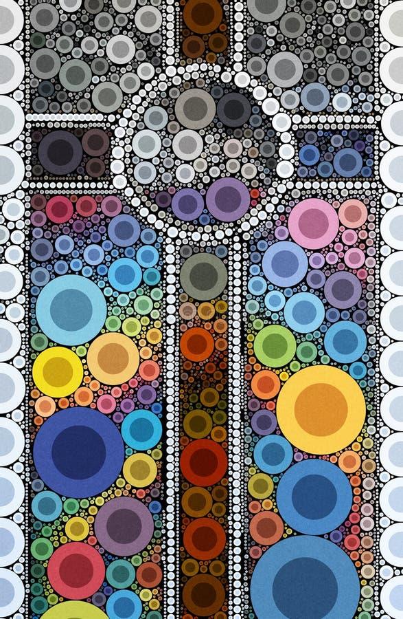 Free Ornate Light Abstract Mosaic Cross Stock Image - 115784651