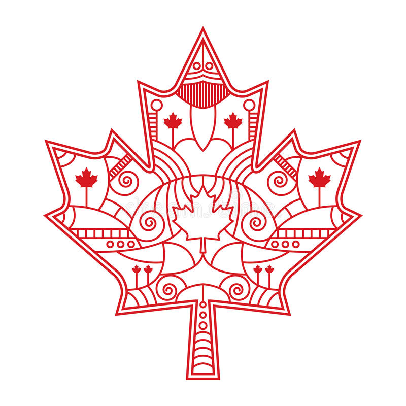 Ornate Maple Leaf royalty free stock photo