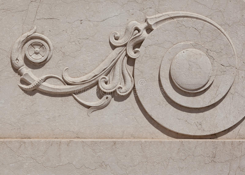 Ornate Marble Scroll Royalty Free Stock Photo