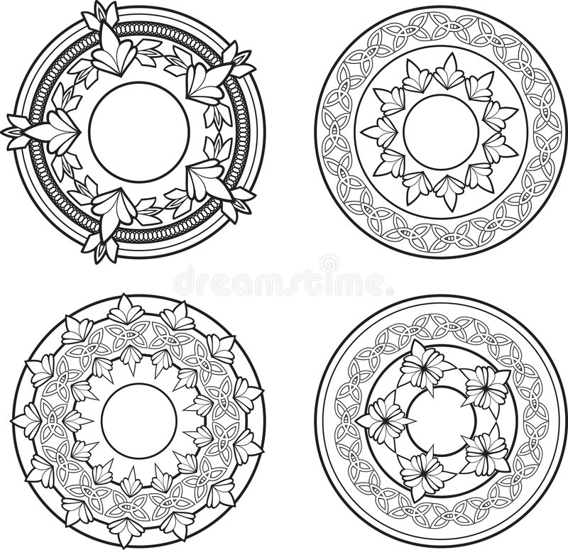 Download Ornate Medallions stock vector. Image of border, shapes - 6737823