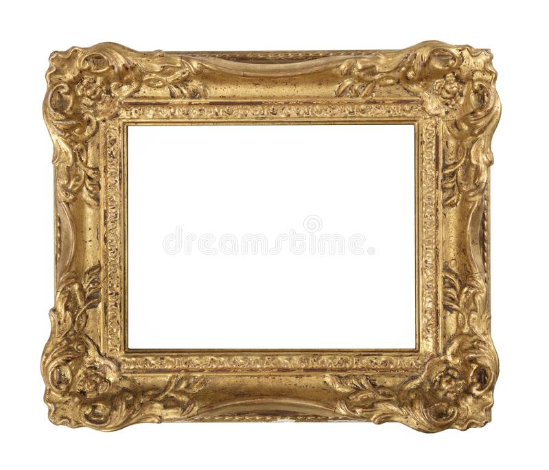 Ornate old gilded frame royalty free stock photography