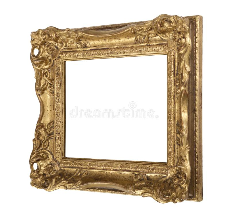 Ornate old gilded frame stock photo