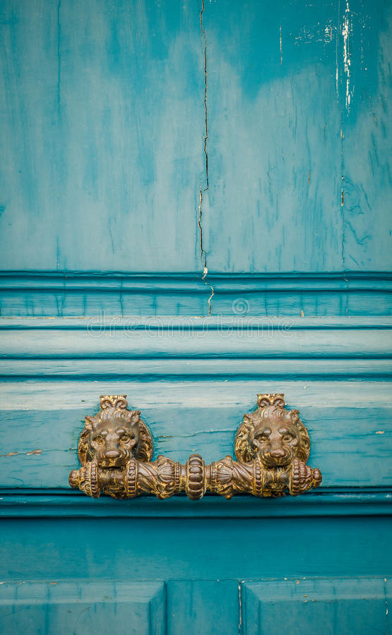Free Ornate Paris Door Handle Stock Photos - 45826653