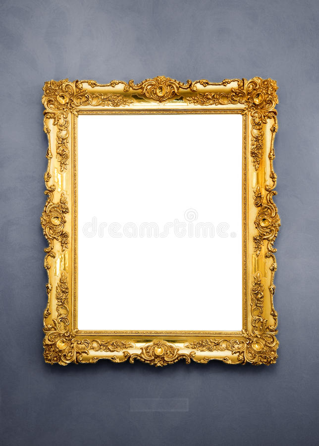 Ornate picture frame royalty free stock photography