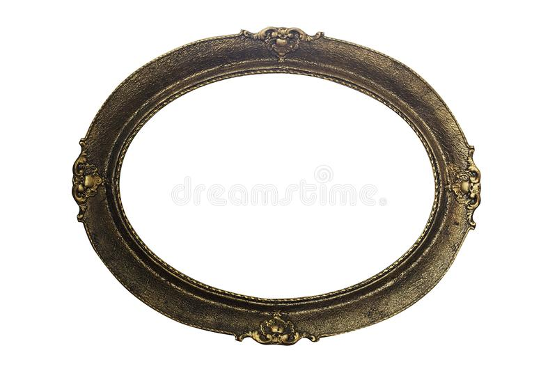 Ornate Picture Frame Isolated On White Background. Antique and V stock photos
