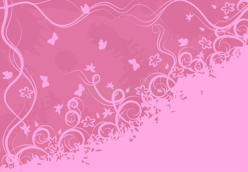 Download Ornate pink background stock vector. Image of abstract - 12485269