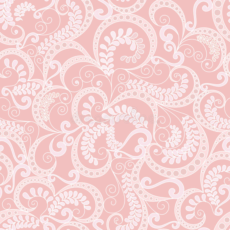 Download Ornate Seamless Pattern On Pink Background Stock Photo - Image: 33982102