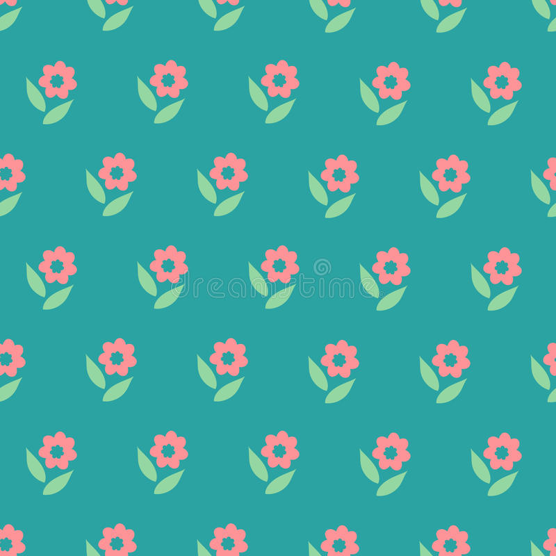 Free Ornate Simple Beauty Flower Seamless Pattern. Abstract Floral Original Background. Royalty Free Stock Photo - 60235845