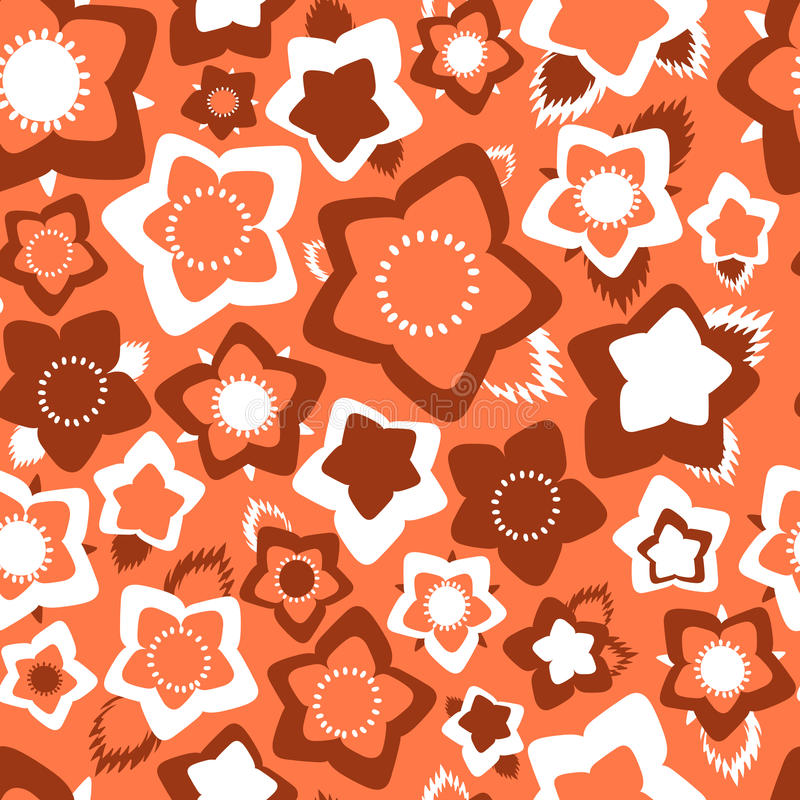 Ornate simple beauty flower seamless pattern. Abstract floral original background. vector illustration