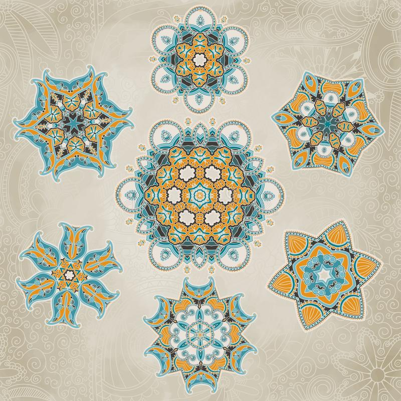 Download Ornate Snowflakes Vector Set Stock Vector - Illustration: 33389617