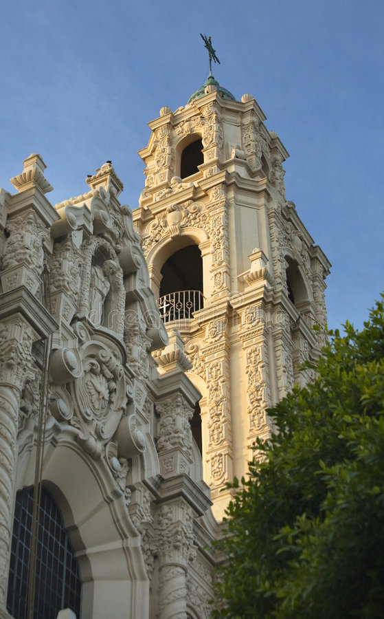 Ornate Steeple Mission Dolores San Francisco Royalty Free Stock Photography