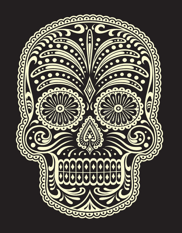 Ornate Sugar Skull. Vector of ornate sugar skull
