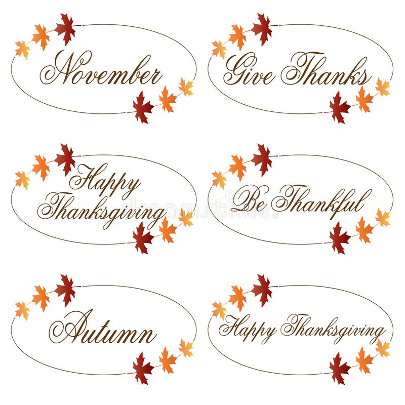 Ornate Thanksgiving clipart. Ornate Thanksgiving icons clipart royalty free illustration