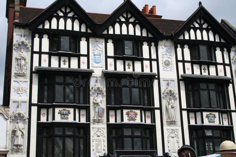 Ornate Tudor Building.