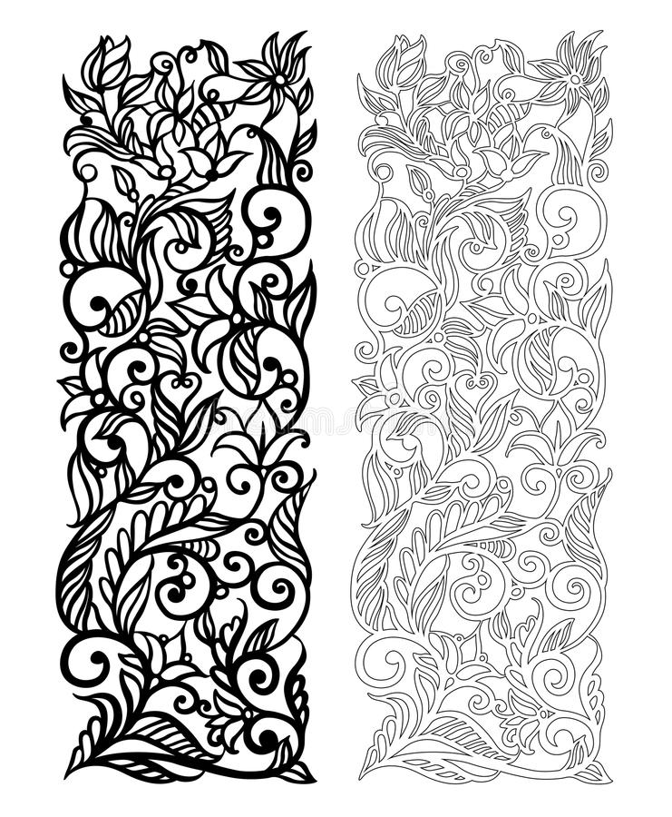 Free Ornate Vector Floral Pattern Royalty Free Stock Images - 70527369