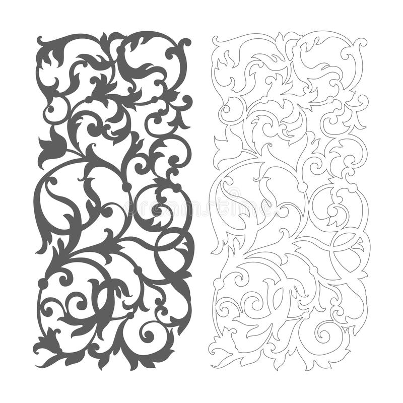 Free Ornate Vector Floral Pattern For Cutting Royalty Free Stock Image - 72831066