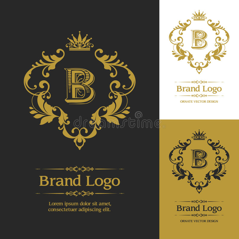Ornate Vector Logo Template royalty free illustration