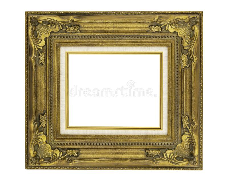 8 x 10 Ornate Vintage Style Golden Frame royalty free stock photo