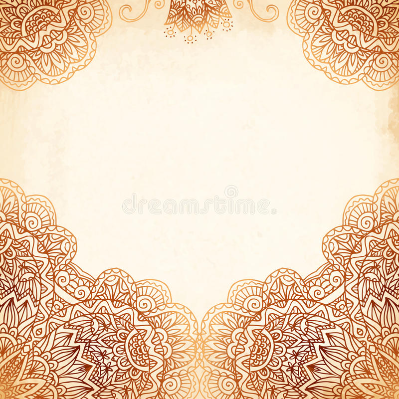 Ornate vintage vector background in mehndi style stock download ornate vintage vector background in mehndi style stock illustration illustration of invitation lacy stopboris Images