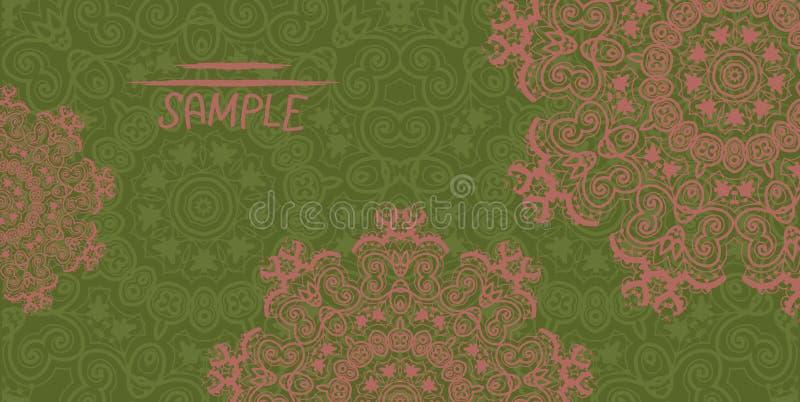 Henna Mehndi Vector : Ornate wedding invitation card based on indian stock vector