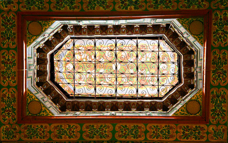 Download Ornate Window In Moroccan Palace Stock Image - Image: 14718763