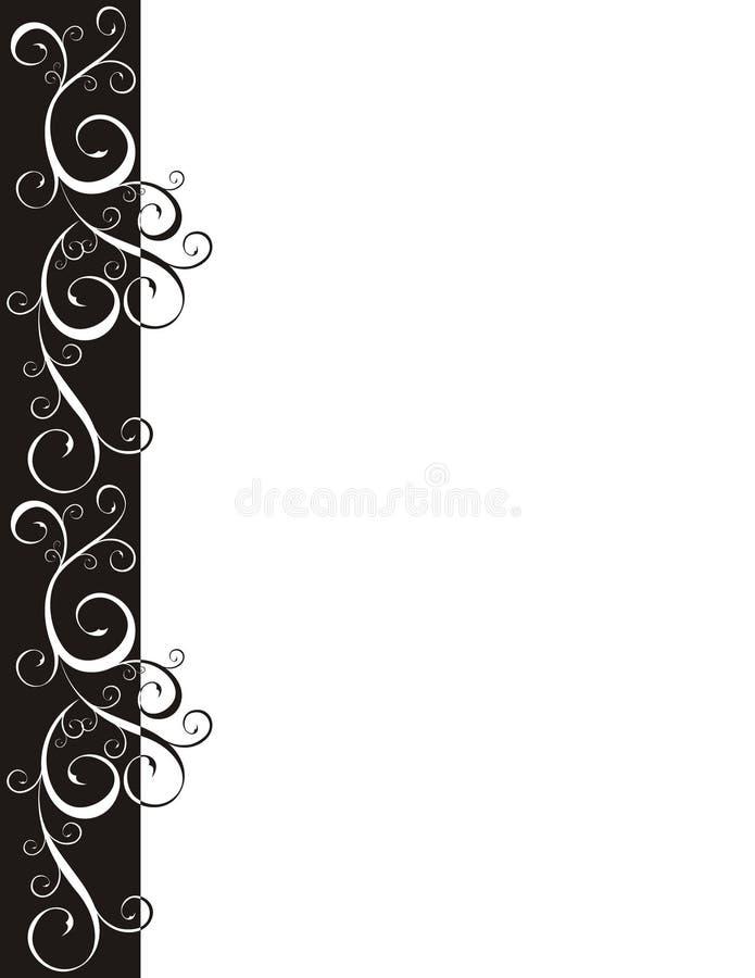 Ornateblack border vector illustration