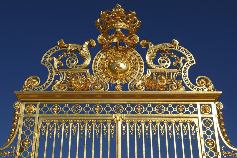 Download Ornated Majestic Golden Gate Againt Clear Blue Sky Stock Photo - Image: 20431032