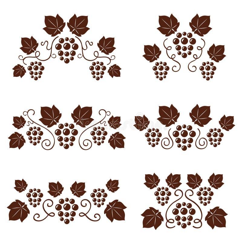 Ornates da vinha ajustados. ilustração royalty free