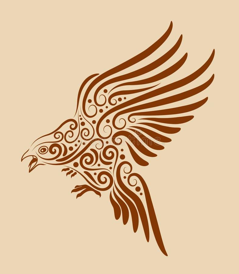 Ornement 03 d'oiseau illustration de vecteur
