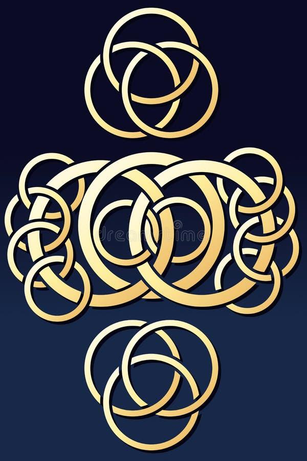 Ornement abstrait de boucles illustration de vecteur