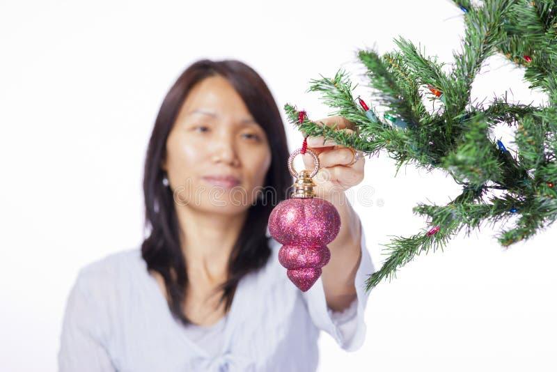 Ornement accrochant sur l'arbre. photos stock