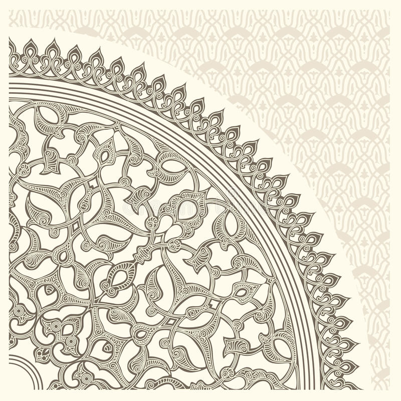 Ornement Arabe illustration stock