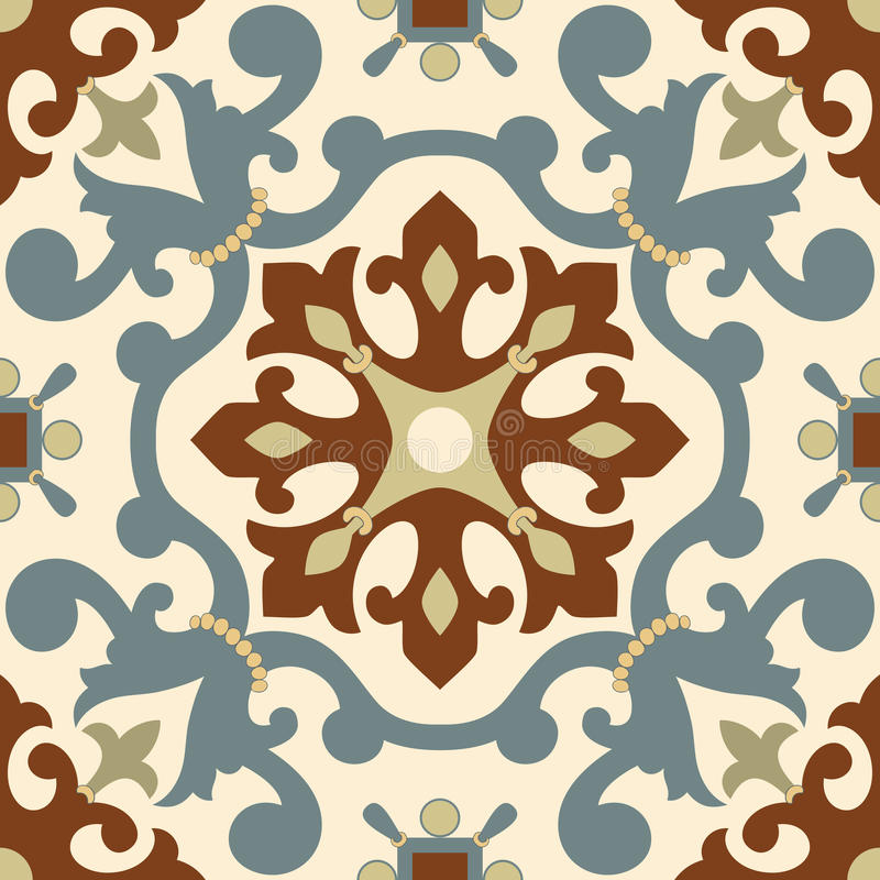 Ornement arabe traditionnel sans couture pour votre conception Papier peint de bureau Fond Iznik illustration stock