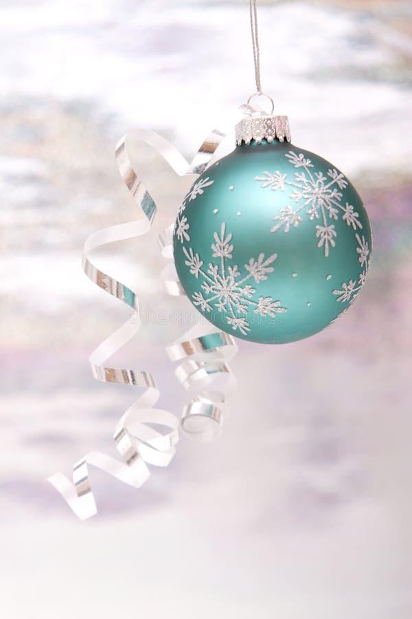 Ornement argenté de Noël photo libre de droits