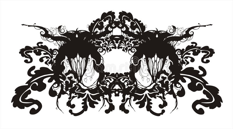 Ornement baroque floral abstrait illustration stock
