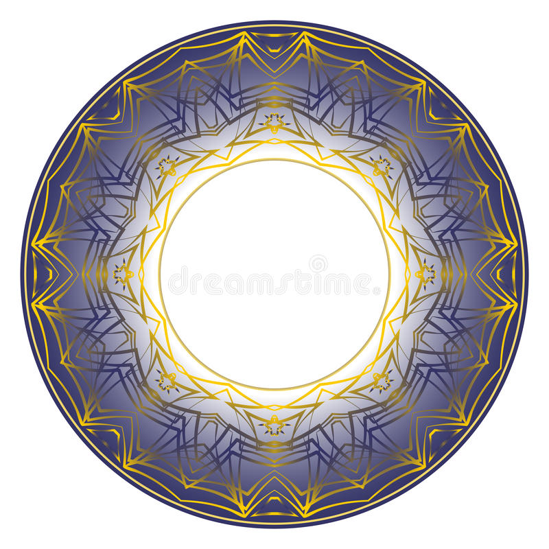 Ornement bleu de plat illustration stock