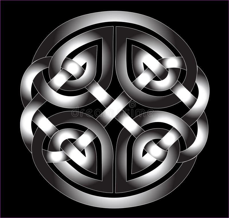 Ornement celtique dans le métal illustration de vecteur